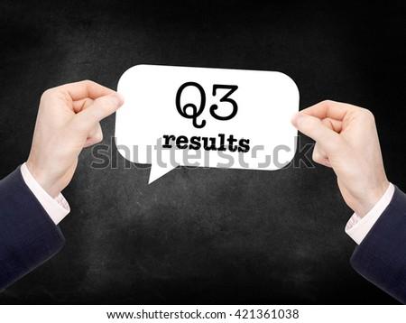 Q3 written on a speechbubble - stock photo
