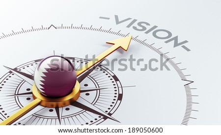 Qatar High Resolution Vision Concept - stock photo