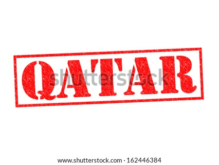 QATAR Rubber Stamp over a white background.