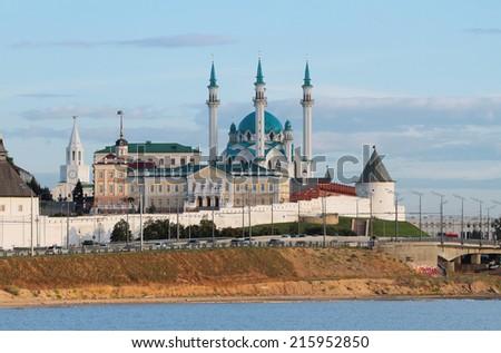Qol Sharif mosque in Kazan Kremlin - stock photo