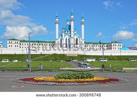 Qolsharif Mosque in Kazan Kremlin, Republic of Tatarstan, Russia - stock photo