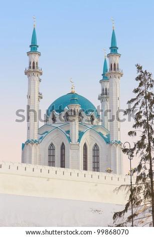 Qolsharif Mosque in Kazan Kremlin, Tatarstan, Russia - stock photo