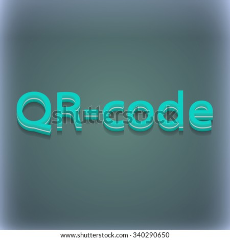 Qr code icon symbol. 3D style. Trendy, modern design with space for your text illustration. Raster version - stock photo