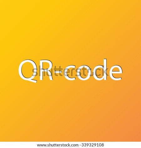 Qr code icon symbol Flat modern web design with long shadow and space for your text. illustration - stock photo