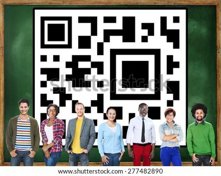 QR Code Identity Business Marketing Concept - stock photo