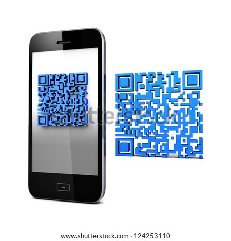 QR code Mobile Phone On line connect  Business Imformation