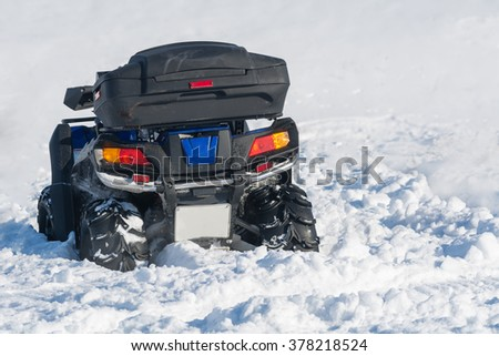 Quad Bike Snow Stock Photo 378218527 Shutterstock