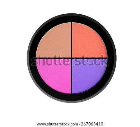 quadro eyeshadows isolated on white background - stock photo