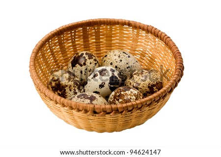 quail egg isolated on a white background - stock photo