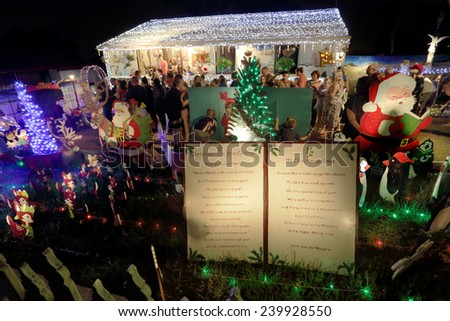 ... Christmas, with led lights, christmas trees, santa, nativity scens