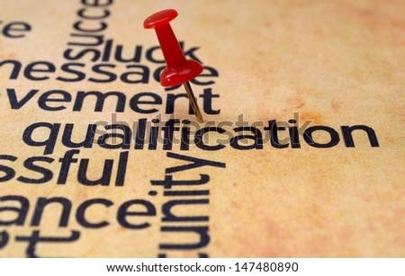 Qualification concept - stock photo