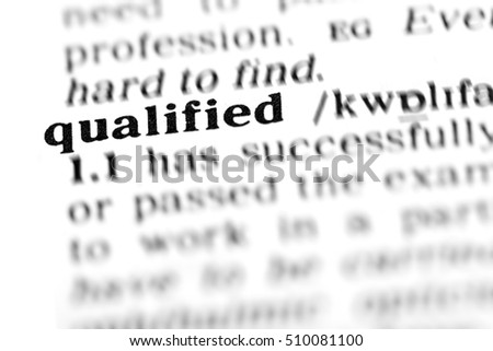 qualified (the dictionary project, macro shots, shallow D.O.F.)
