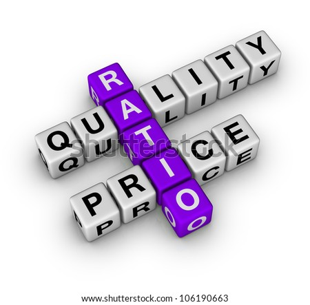 Quality and Price Ratio (cubes crossword series)