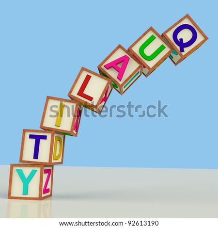 Quality Blocks Showing Excellence Perfection And Improvements - stock photo