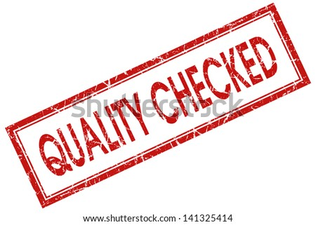 quality checked stamp - stock photo