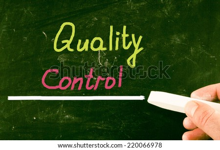 quality control concept - stock photo
