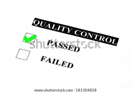 Quality control form. Passed is checked. - stock photo