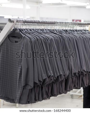 quality control   of   clothing in the sewing workshop - stock photo