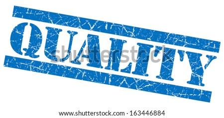 Quality grunge blue stamp - stock photo
