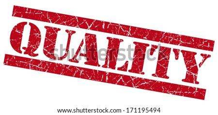 Quality grunge red stamp - stock photo