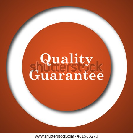 Quality guarantee icon. Internet button on white background.