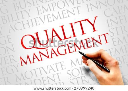 Quality Management word cloud, business concept - stock photo