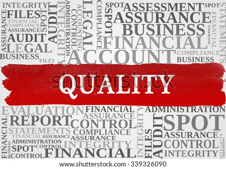 QUALITY word cloud, business concept - stock photo