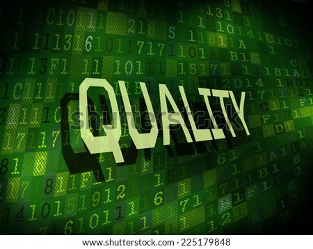 quality word isolated on internet digital background  - stock photo
