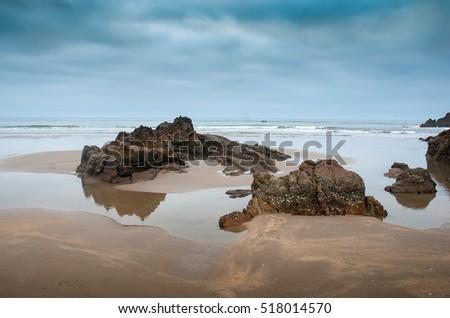 QUANG BINH, Vietnam, July 24, 2016 rocks, coastline Quang Binh, central Vietnam