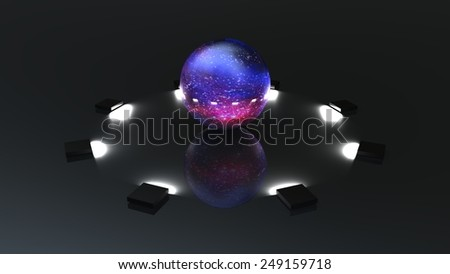 quantum computing for adv or others purpose use - stock photo