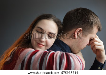 Sad Couple Hugging Stock Images, Royalty-Free Images ...