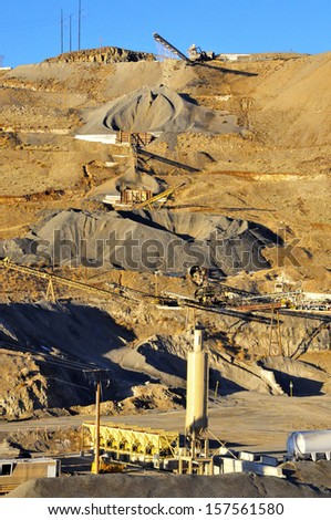 Quarry and Bitumen Manufacturing Plant - stock photo