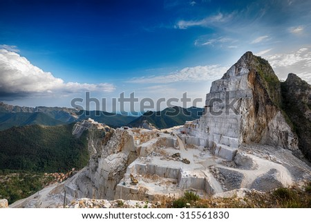 Quarry Carrara - stock photo
