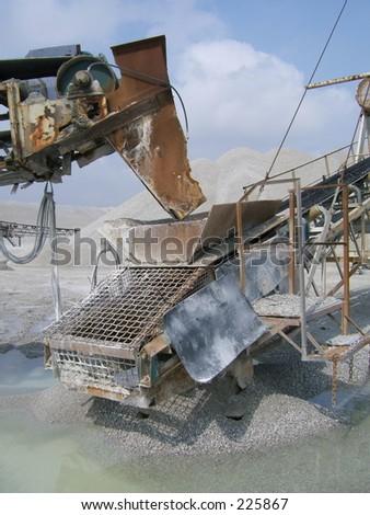 quarry conveyor belt - stock photo