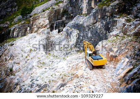 quarry in the marble cave