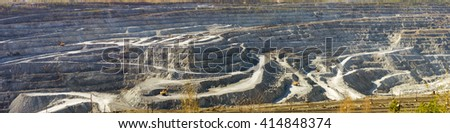 quarry mining in Asbest, Russia - stock photo