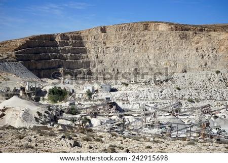 Quarry near Drejat village in Israel                                - stock photo