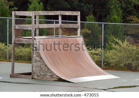 Quarter Pipe for Skateboard - stock photo