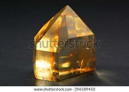 Quartz Citrine/Quartz Citrine - stock photo