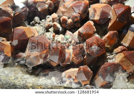 Quartz (Tectosilicate) -- With hematite inclusions, Ramans Drif, Orange River, Karas, Namibia - stock photo