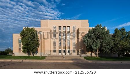 Quay County Courthouse in Tucumcari, New Mexico - stock photo