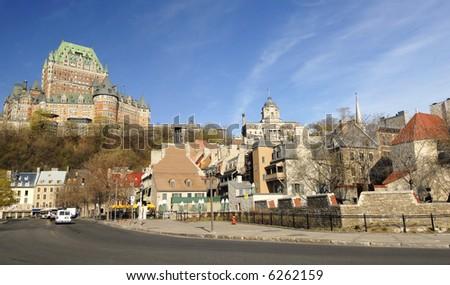 Quebec City Harbor Front - stock photo