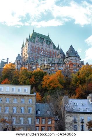 Quebec city, Quebec, Canada historic architectural building - stock photo