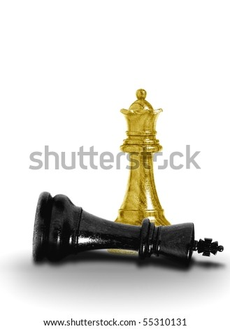 Queen checkmate - stock photo