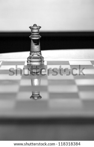 Queen chess piece - business concept series - strategy, business woman, sexual equality in business, power, ambition, success. - stock photo