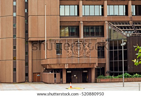 Queen Elizabeth II Law Courts in Liverpool UK