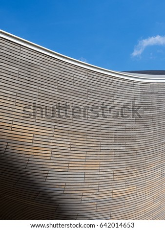 QUEEN ELIZABETH OLYMPIC PARK, LONDON 15 APRIL 2017 - London Aquatics Centre. Designed by Zaha Hadid and now open to the public in Stratford, London, UK.