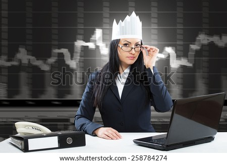 Queen of stock management, concept - stock photo