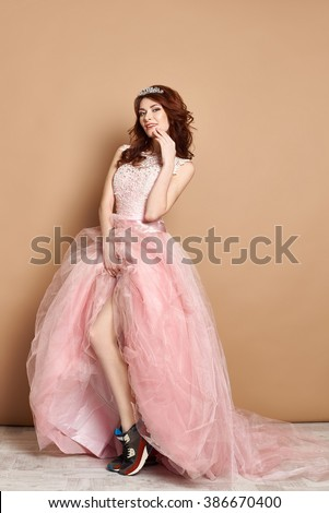 Queen of the prom - stock photo