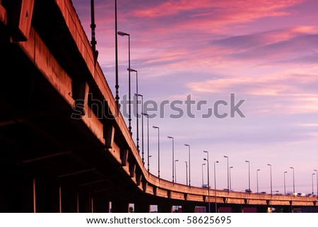 Queen Sirikit Freeway - stock photo
